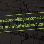 การวิเคราะห์ข้อมูลลาดตระเวน 25 จุดสำคัญทั่วผืนป่าตะวันตก