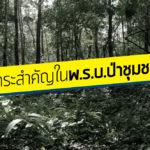 สาระสำคัญในพ.ร.บ.ป่าชุมชน