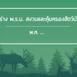 ร่างพ.ร.บ.สงวนและคุ้มครองสัตว์ป่าพ.ศ. .…