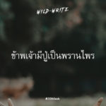 WILD-WRITE : ข้าพเจ้ามีปู่เป็นพรานไพร