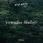 WILD-WRITE : จากคนเมือง ที่คิดถึงป่า