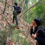 เดินสำรวจแนวป้องกันไฟป่ากับราษฎรอาสารักษาป่า บ้านพุระกำ